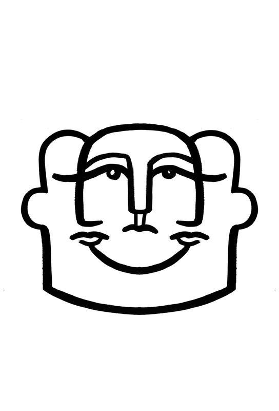 Merged Faces 4 -Alubild