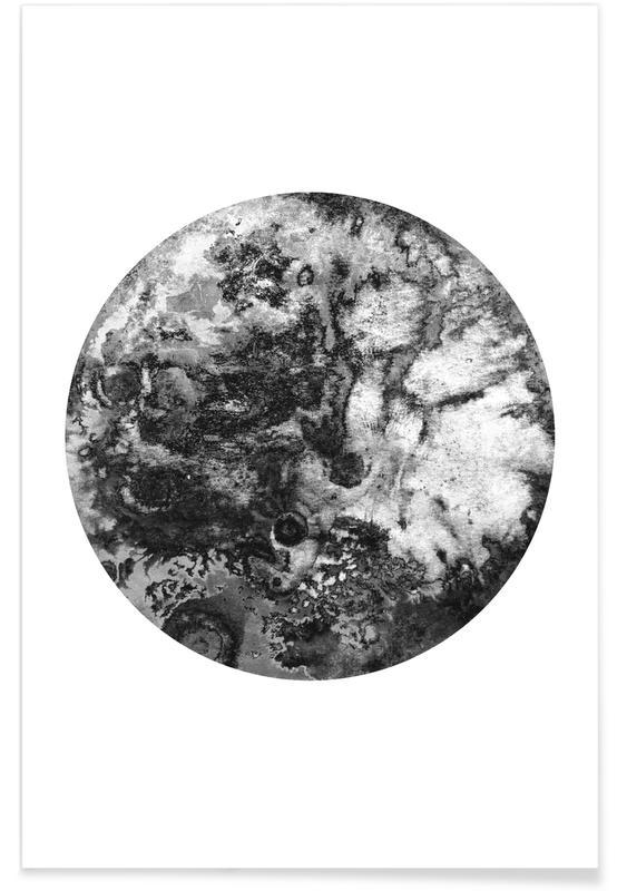 Schwarz & Weiß, Mond, Black Moon -Poster