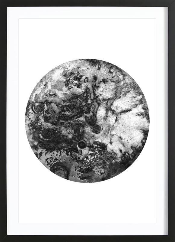 Black Moon affiche sous cadre en bois