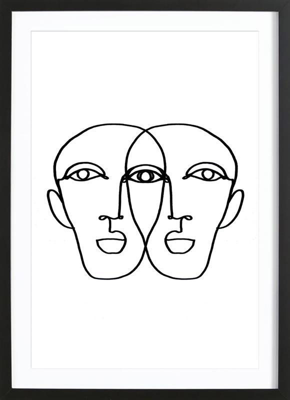 Double ingelijste print