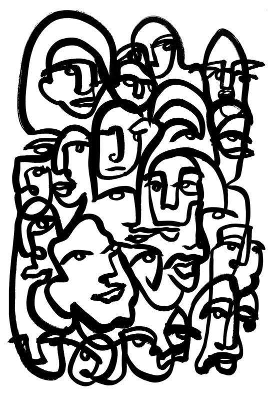 Face Merge -Alubild