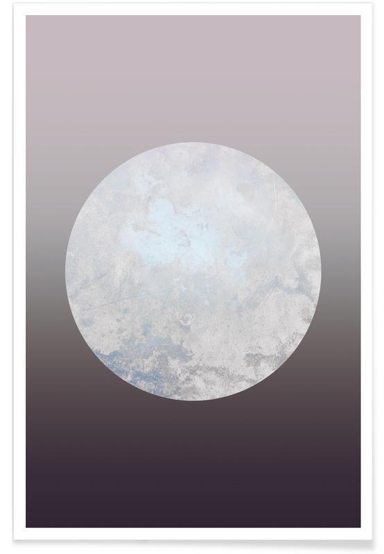 Metallic Moon Rose poster