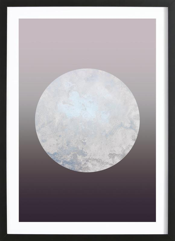 Metallic Moon Rose ingelijste print