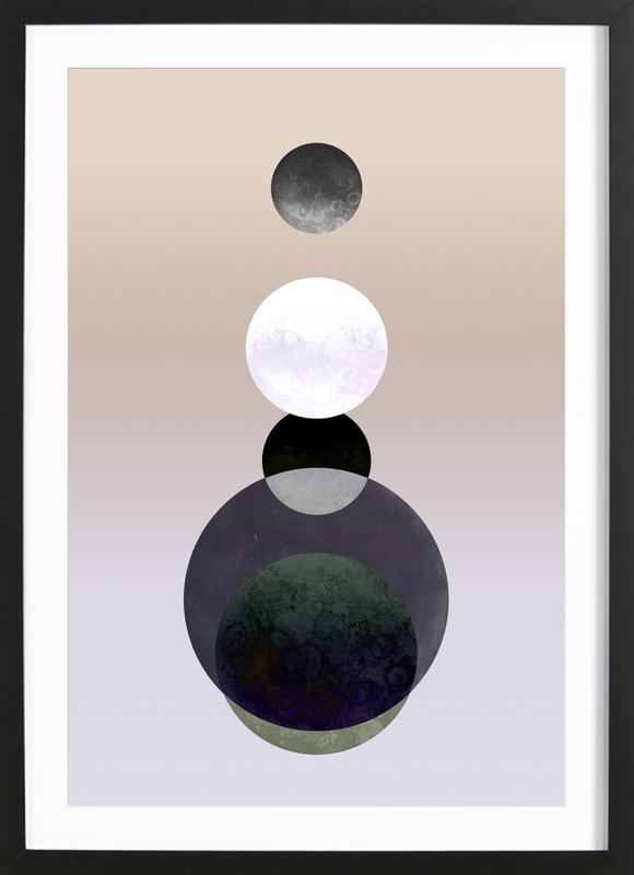 Moon Tower Beige ingelijste print