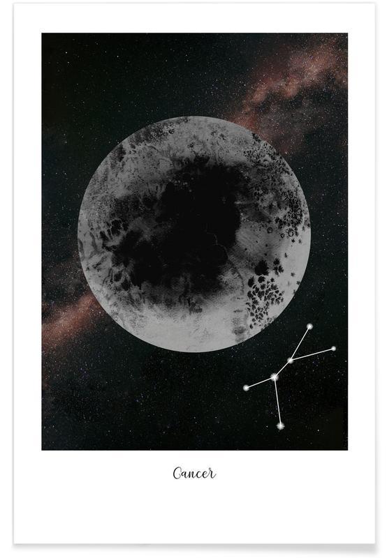 Mond, Zodiac Cancer -Poster
