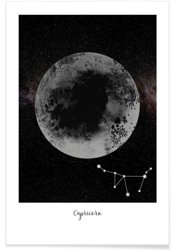 Maan, Zodiac Capricorn poster