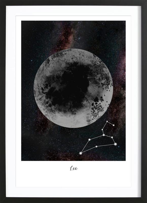 Zodiac Leo ingelijste print
