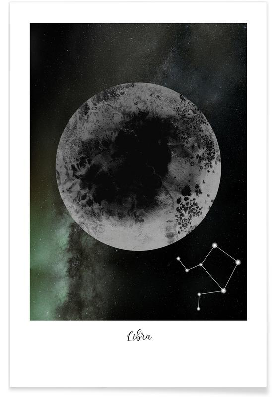 Lune, Zodiac Libra affiche