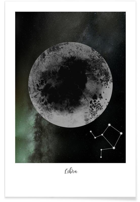Mond, Zodiac Libra -Poster