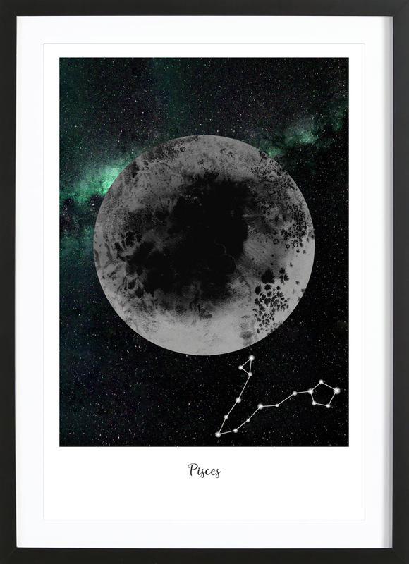 Zodiac Pisces ingelijste print