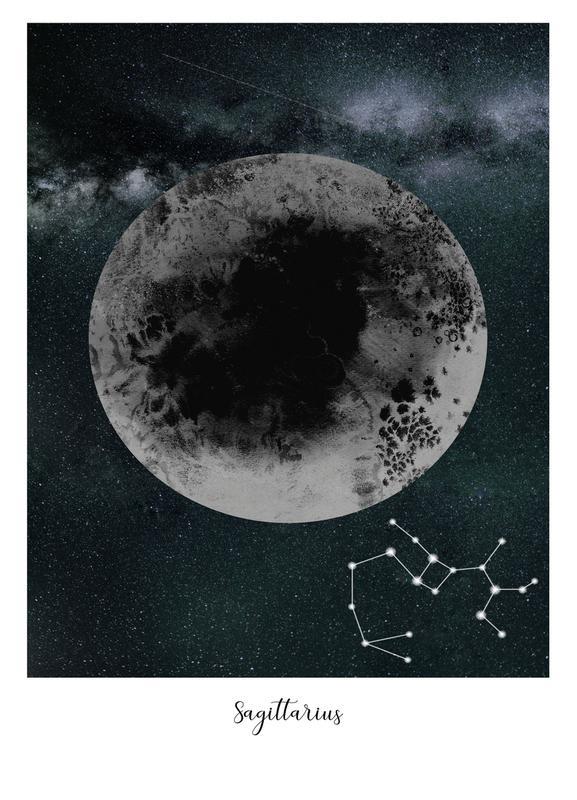 Zodiac Sagittarius canvas doek