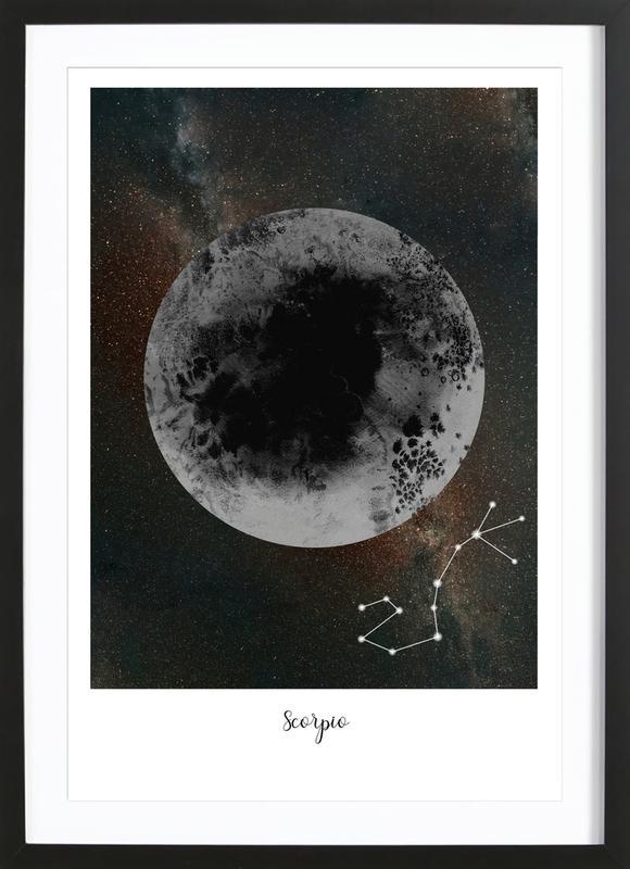 Zodiac Scorpio ingelijste print