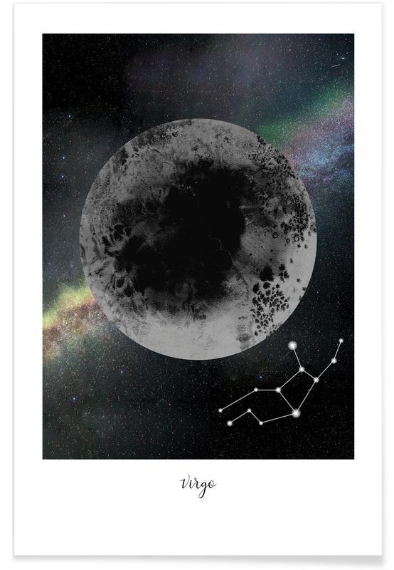 Lune, Zodiac Virgo affiche