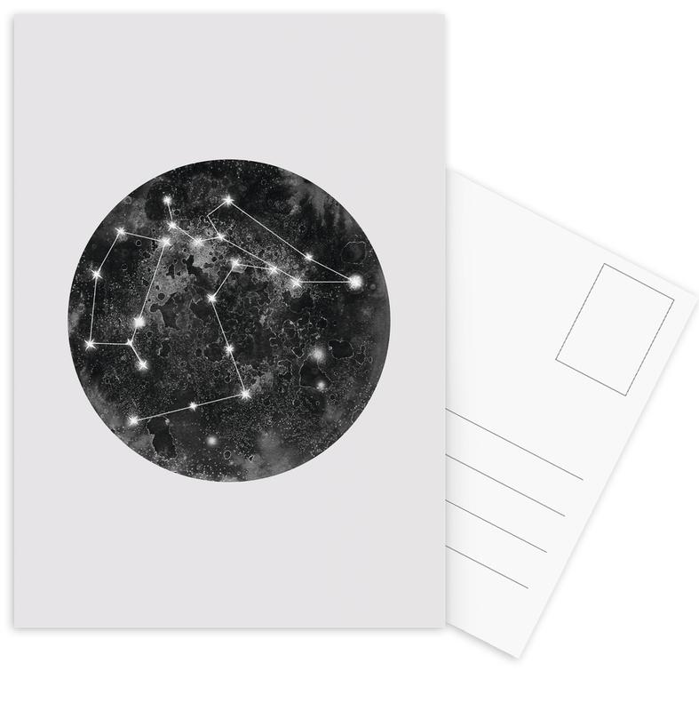 Constellation Grey Postcard Set