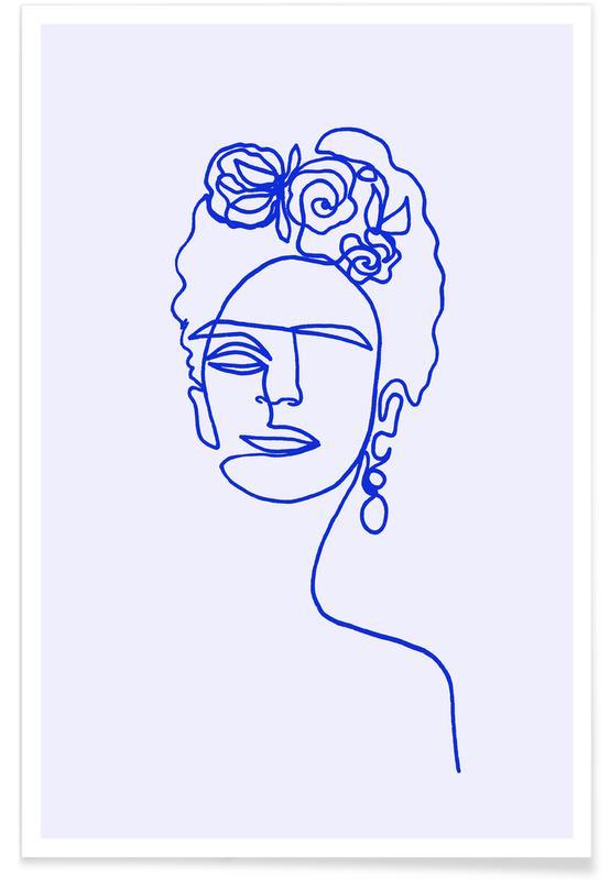Frida Kahlo, Frida Blue -Poster