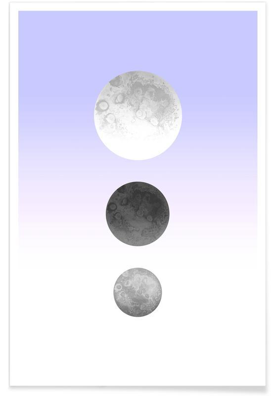 Maan, Moon Triplet Lilac poster