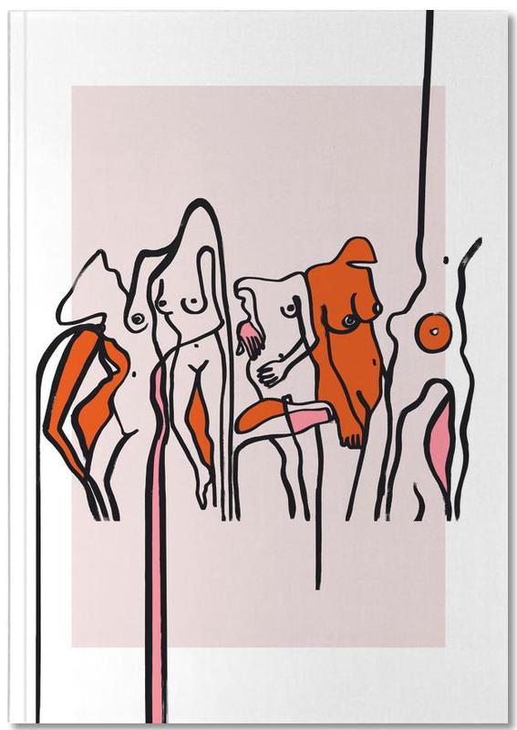 Nude, Groups, Nudists Pink Notebook