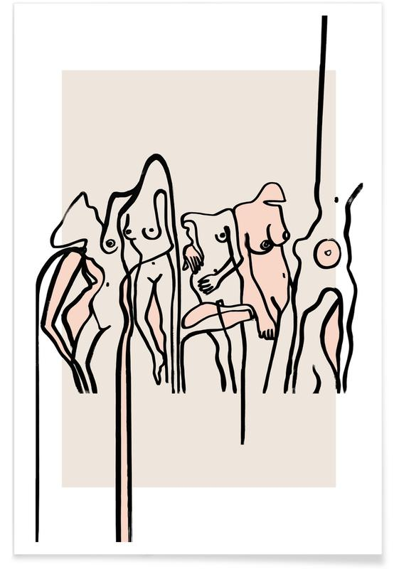 Groups, Nude, Nudists Poster