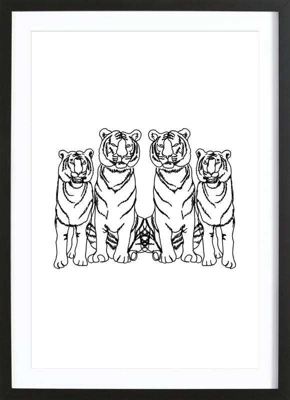 Single Tiger Squad Framed Print