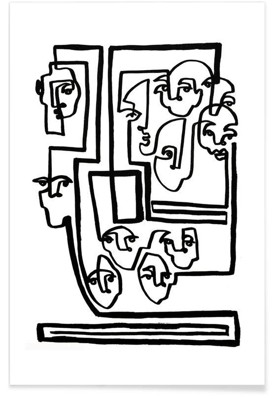 Zwart en wit, Face Book 5 poster
