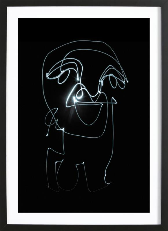 Lightpainting 9 Framed Print
