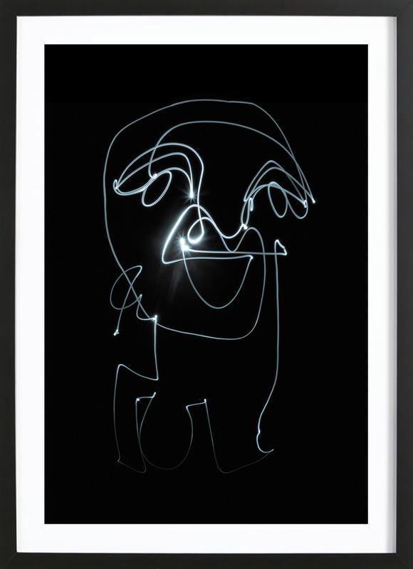 Lightpainting 9 ingelijste print