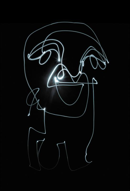 Lightpainting 9 acrylglas print