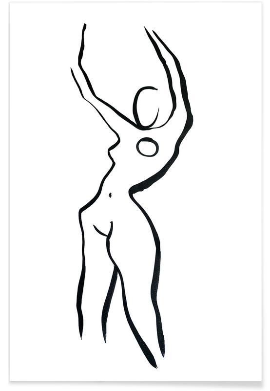 Nus, Noir & blanc, Nude 19 affiche