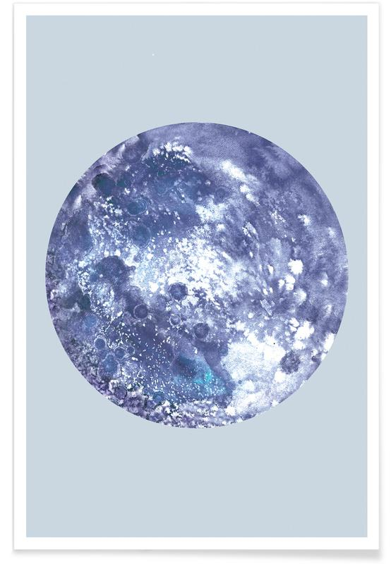 Mond, Earth blue -Poster