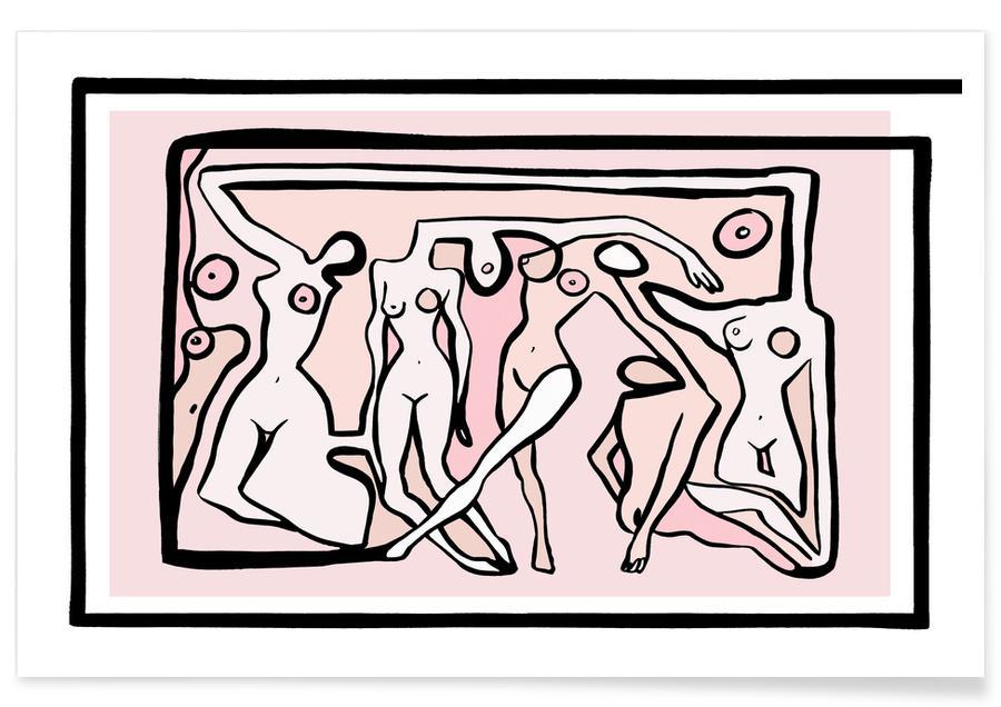 Nøgen, Psychedelic Nudes Plakat