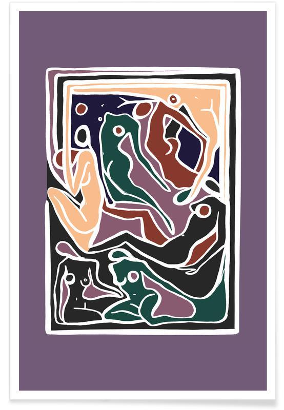 Körperformen, Ecstatic Nudes 5 Lilac -Poster