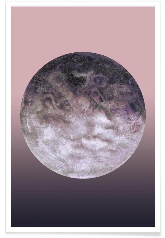 , Quaoar lilac gradient affiche