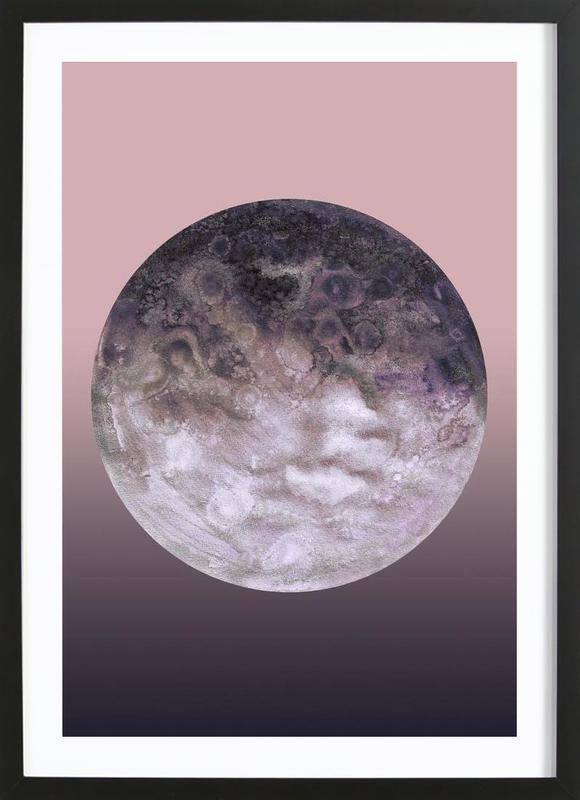 Quaoar lilac gradient Framed Print