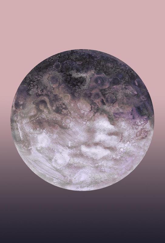 Quaoar lilac gradient Acrylic Print