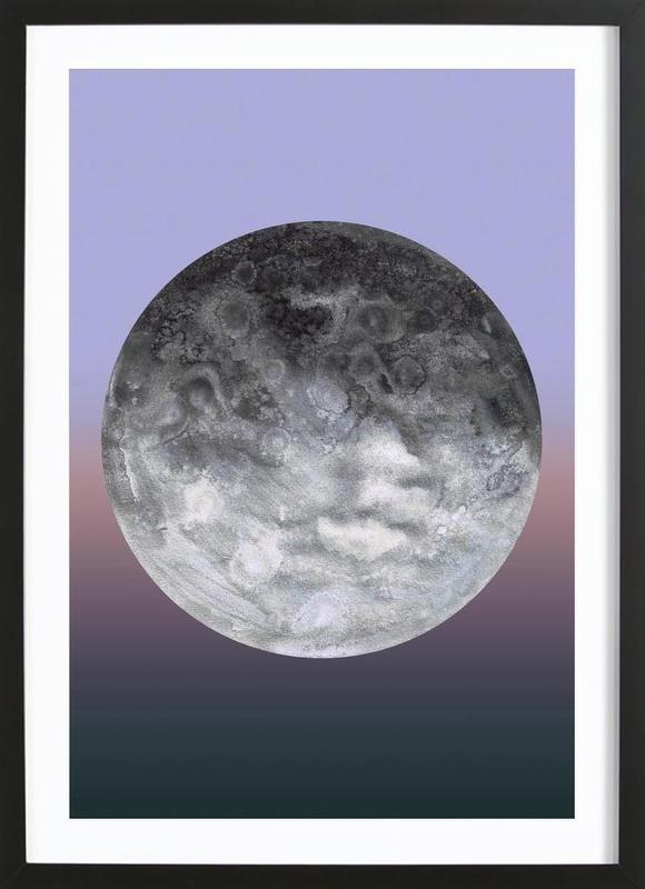 Quaoar gradient Framed Print