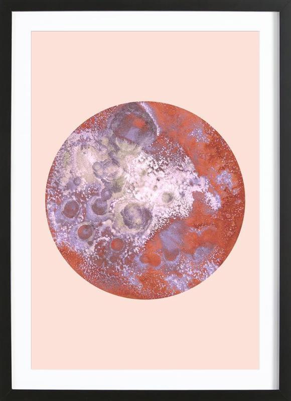 Sedna orange ingelijste print