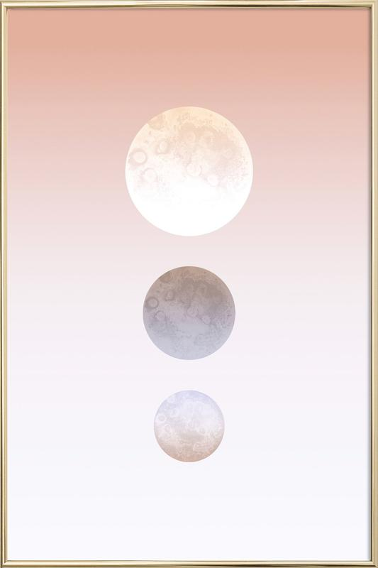Moon Triplet poster in aluminium lijst