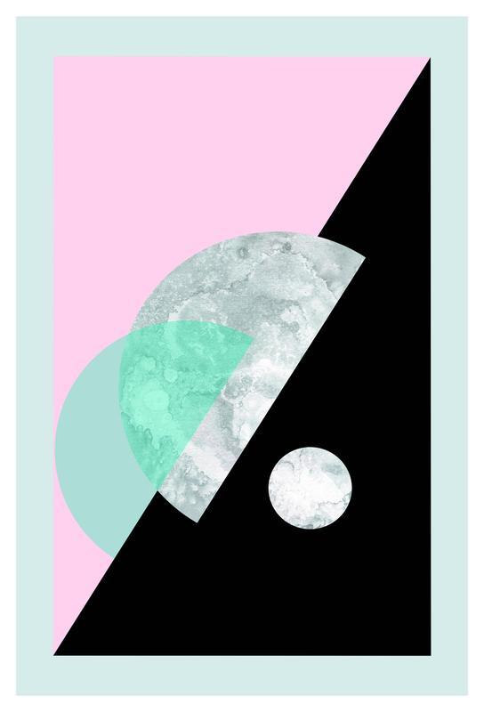 Pastel Moon Geometric -Alubild