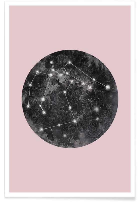 Constellation Pink poster