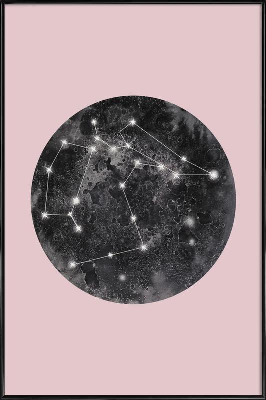 Constellation Pink ingelijste poster