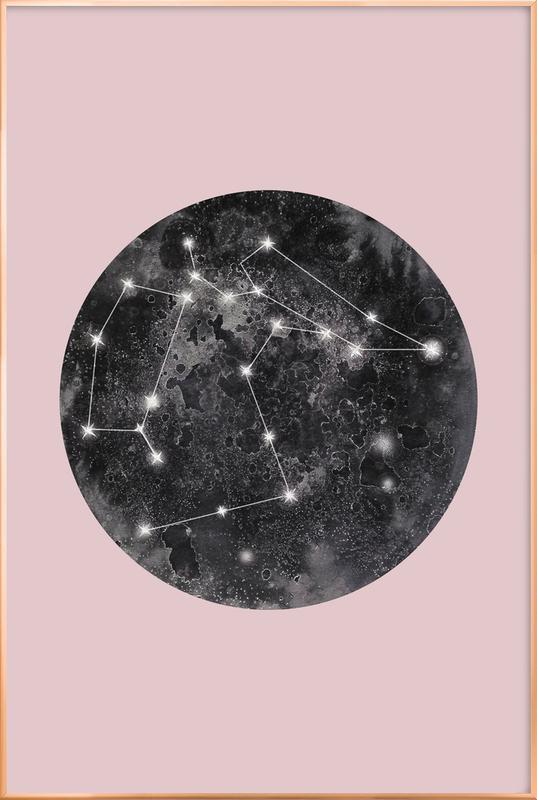Constellation Pink poster in aluminium lijst