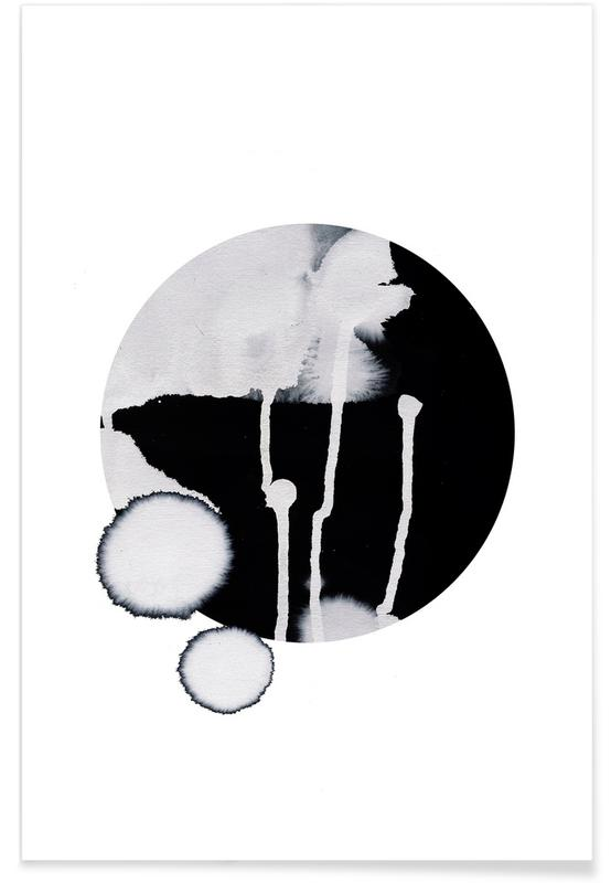 Schwarz & Weiß, Dots -Poster