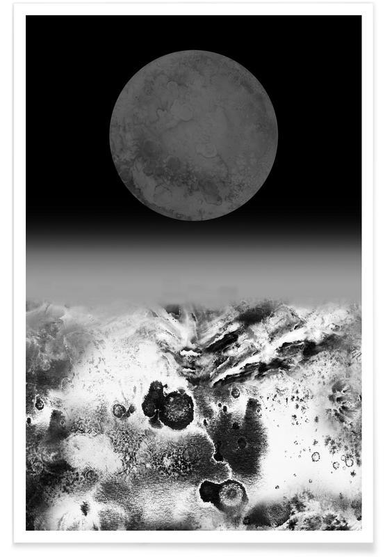 Schwarz & Weiß, Walking on Lunar -Poster
