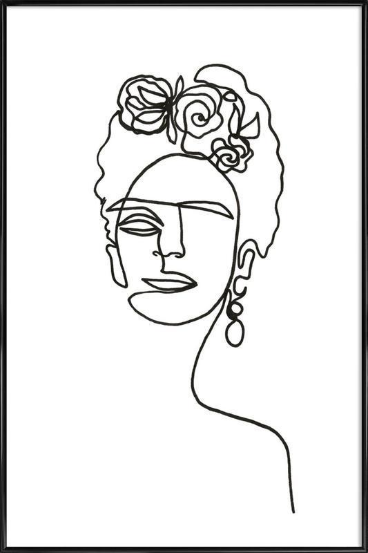 Frida Kahlo affiche encadrée