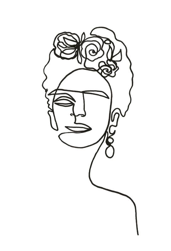 Frida Kahlo Akrylglastavla