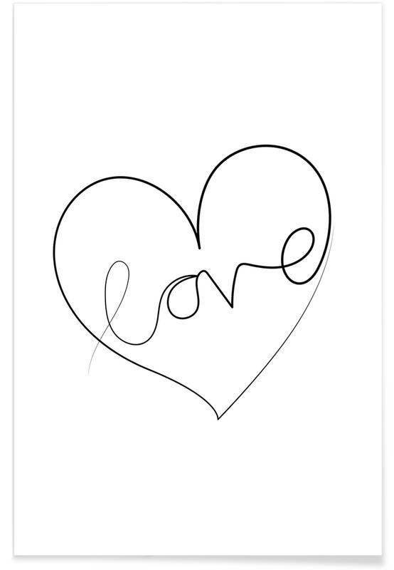 Noir & blanc, Cœurs, Love Lines affiche