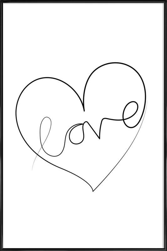 Love Lines ingelijste poster