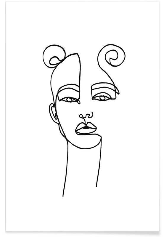 Black & White, Portraits, Poppy Poster