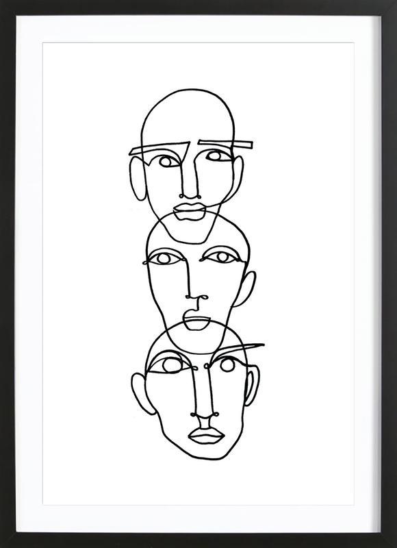 Three ingelijste print