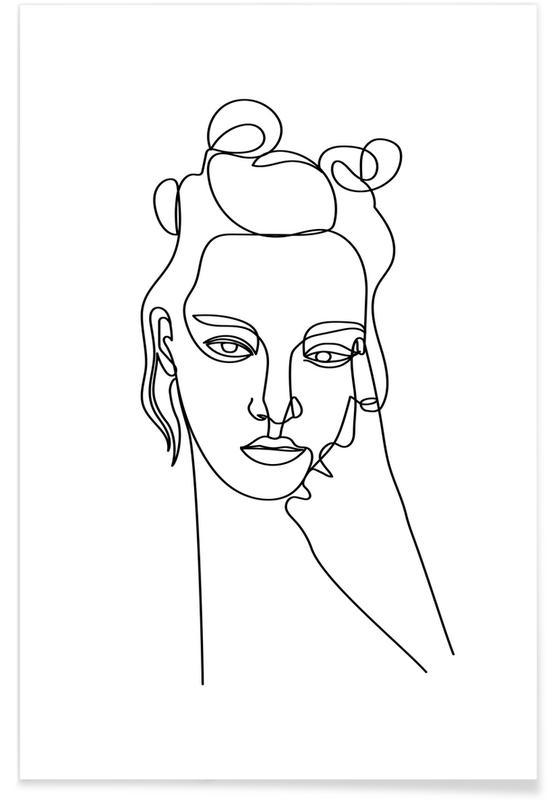 Black & White, Portraits, Unimpressed Poster